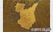 Physical 3D Map of Goromonzi, darken