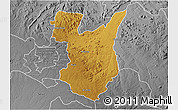 Physical 3D Map of Goromonzi, desaturated