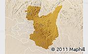 Physical 3D Map of Goromonzi, lighten
