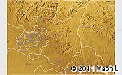 Physical 3D Map of Goromonzi