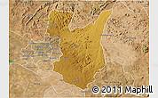 Physical 3D Map of Goromonzi, satellite outside