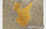 Physical 3D Map of Goromonzi, semi-desaturated