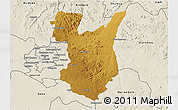 Physical 3D Map of Goromonzi, shaded relief outside