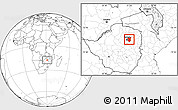 Blank Location Map of Goromonzi