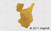 Physical Map of Goromonzi, cropped outside