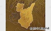 Physical Map of Goromonzi, darken