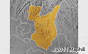 Physical Map of Goromonzi, desaturated