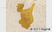 Physical Map of Goromonzi, lighten