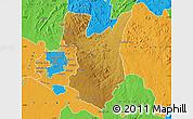 Physical Map of Goromonzi, political outside