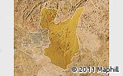 Physical Map of Goromonzi, satellite outside