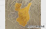 Physical Map of Goromonzi, semi-desaturated