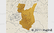 Physical Map of Goromonzi, shaded relief outside
