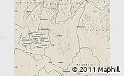 Shaded Relief Map of Goromonzi