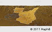 Physical Panoramic Map of Goromonzi, darken