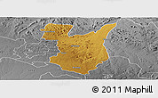 Physical Panoramic Map of Goromonzi, desaturated