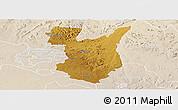 Physical Panoramic Map of Goromonzi, lighten