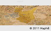 Physical Panoramic Map of Goromonzi, satellite outside