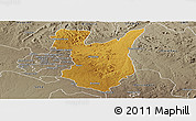 Physical Panoramic Map of Goromonzi, semi-desaturated