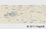 Shaded Relief Panoramic Map of Goromonzi