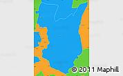 Political Simple Map of Goromonzi