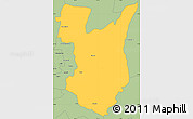 Savanna Style Simple Map of Goromonzi