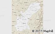 Classic Style Map of Mashonaland East