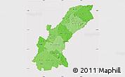 Political Shades Map of Mashonaland East, cropped outside