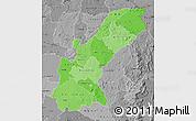 Political Shades Map of Mashonaland East, desaturated