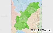 Political Shades Map of Mashonaland East, lighten