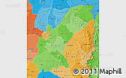 Political Shades Map of Mashonaland East