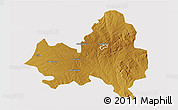 Physical 3D Map of Marondera, cropped outside