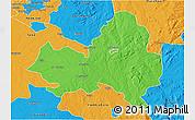 Political 3D Map of Marondera