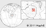 Blank Location Map of Marondera