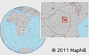 Gray Location Map of Marondera