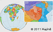 Political Location Map of Marondera
