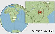 Savanna Style Location Map of Marondera