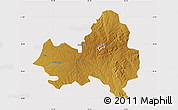 Physical Map of Marondera, cropped outside