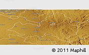 Physical Panoramic Map of Marondera