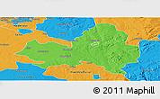 Political Panoramic Map of Marondera