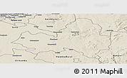 Shaded Relief Panoramic Map of Marondera