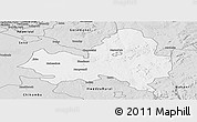 Silver Style Panoramic Map of Marondera