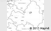 Blank Simple Map of Marondera