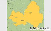 Savanna Style Simple Map of Marondera