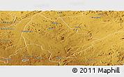 Physical Panoramic Map of Murehwa