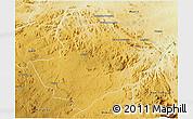 Physical 3D Map of Mutoko