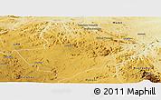 Physical Panoramic Map of Mutoko