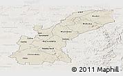 Shaded Relief Panoramic Map of Mashonaland East, lighten