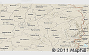 Shaded Relief Panoramic Map of Mashonaland East