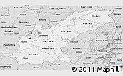 Silver Style Panoramic Map of Mashonaland East