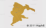 Physical 3D Map of Seke, cropped outside